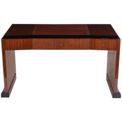 French Modernist Mahogany Desk