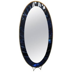 Midcentury Large Oval Mirror