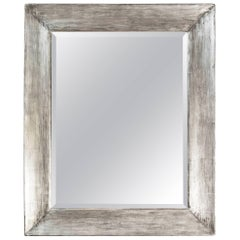 Paul Marra Distressed Silver Frame Mirror
