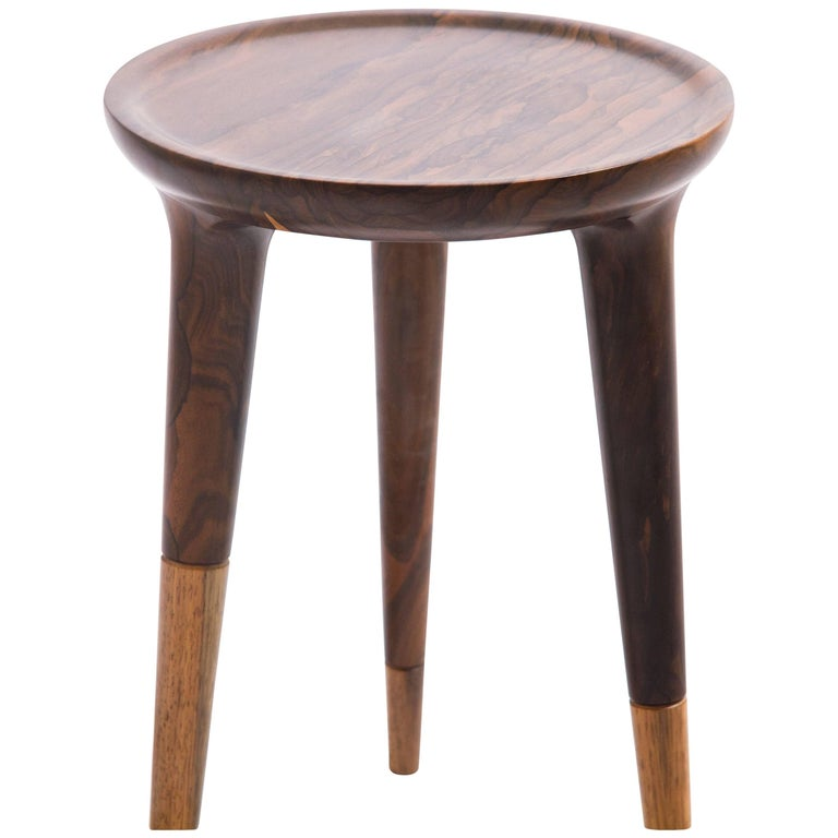 Low Side Table in Ziricote 'Mexican Ebony' Tropical Wood