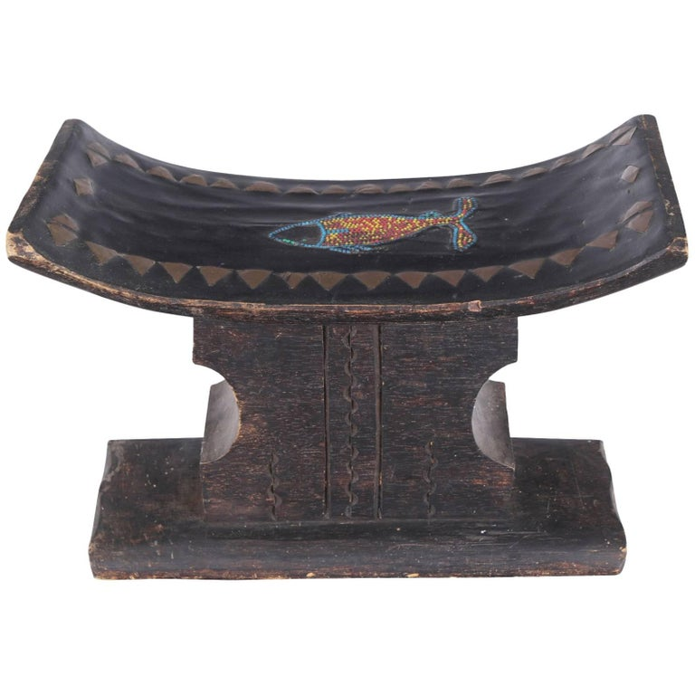 Fine Old Inlaid African Stool
