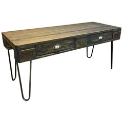 French Industrial Table