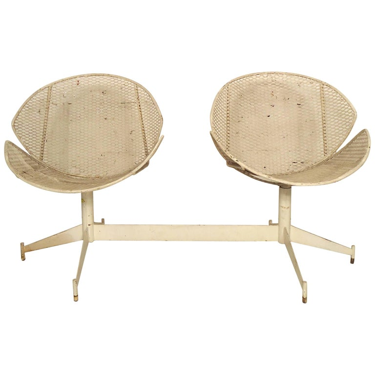 Maurizio Tempestini Double Chair Outdoor Seating For Sale