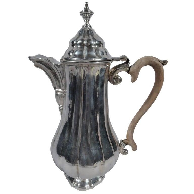 Antique Italian Silver Coffeepot in 18th Century Style