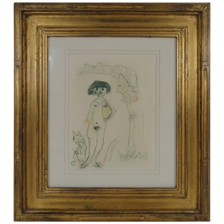 Kees van Dongen Signed Original Water Color For Sale