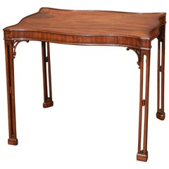 Early 19th Century Mahogany Chippendale-Style Tea Table