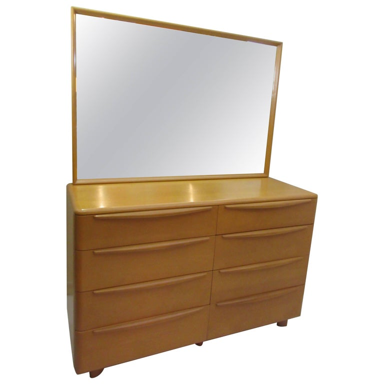 Heywood Wakefield Encore Dresser with Mirror  For Sale