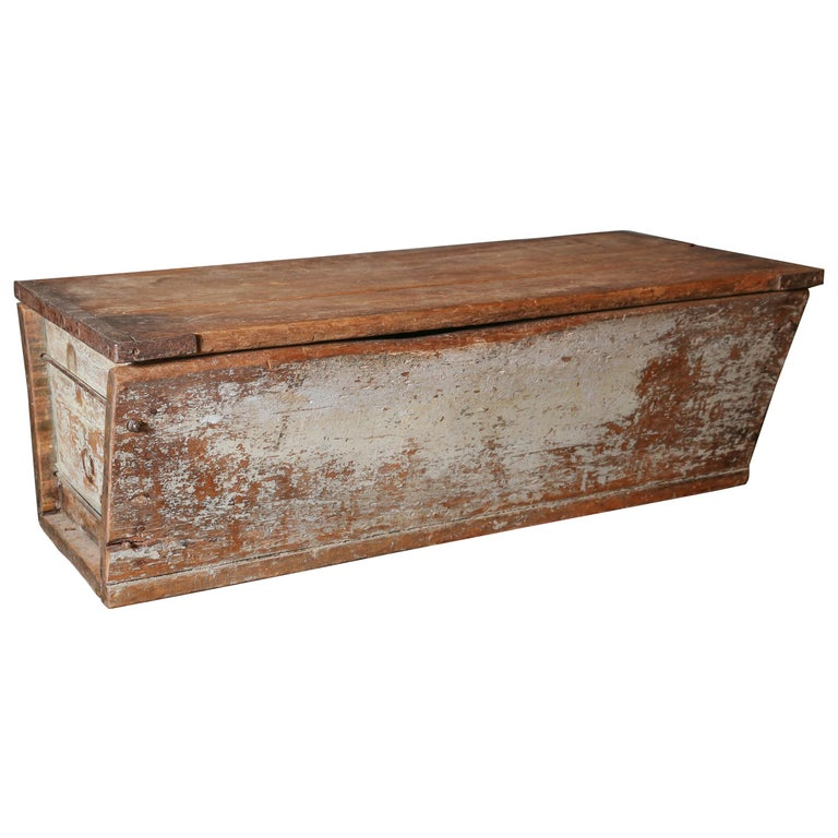 Large Antique Breadbox Used As Coffee Table For Sale At 1stdibs