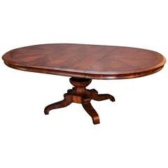 """Alfonzo Marina Round """"Palafoxina"""" Walnut Veneered Dining Table"""