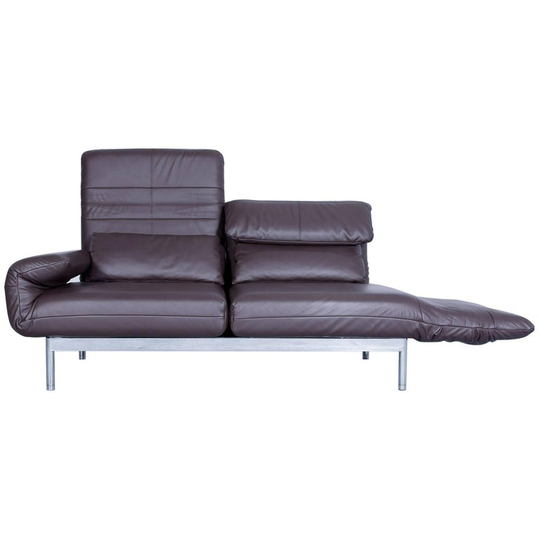 rolf benz plura designer sofa set leather brown relax. Black Bedroom Furniture Sets. Home Design Ideas