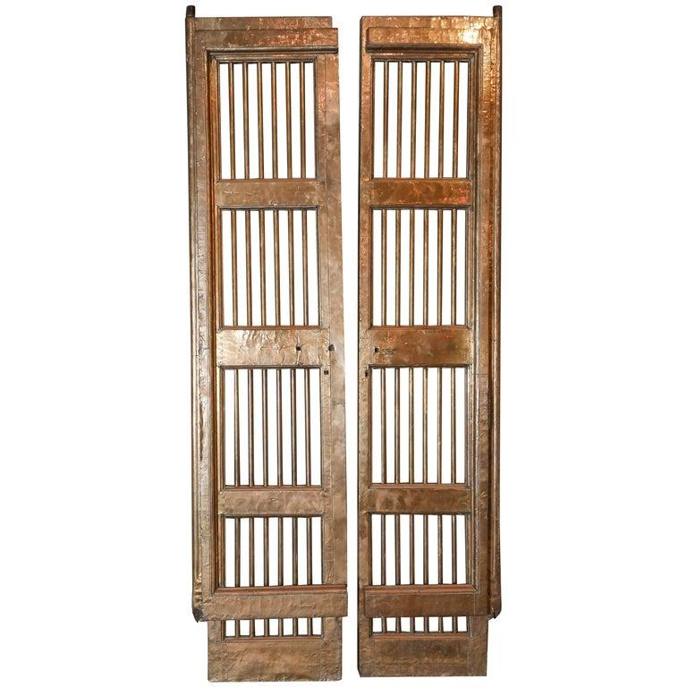 Early 19th Century Brass Clad Wood Algerian Doors or Gates
