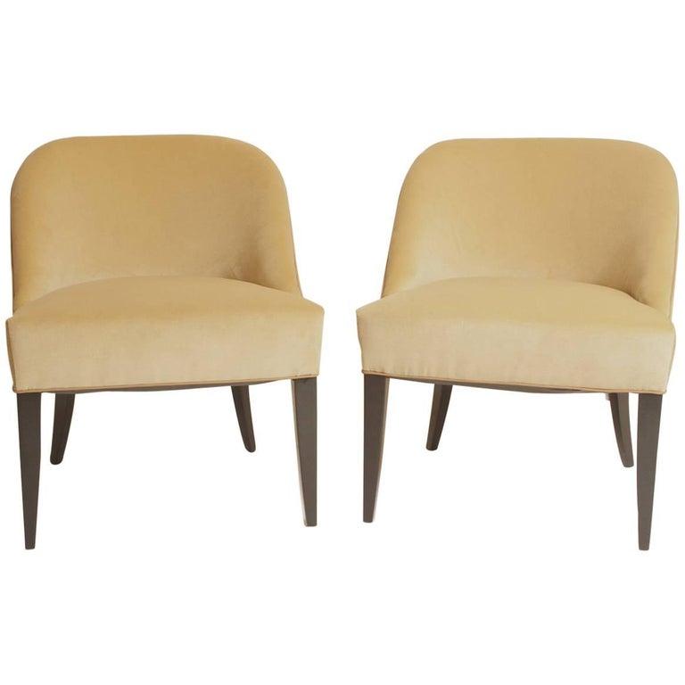 Pair of Jean Pascaud Modern Chairs, circa 1940