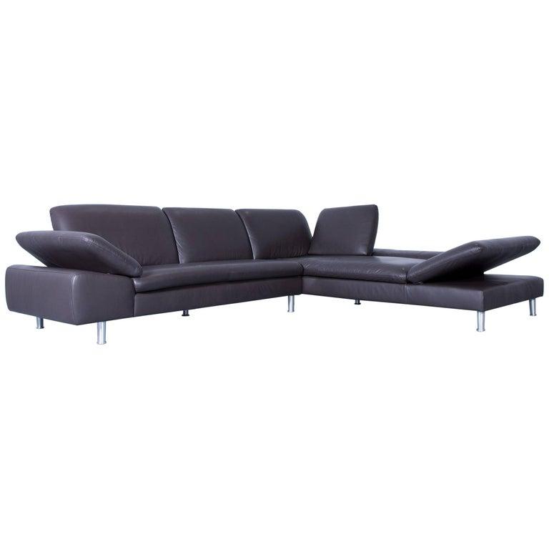 willi schillig loop designer corner sofa set leather brown. Black Bedroom Furniture Sets. Home Design Ideas