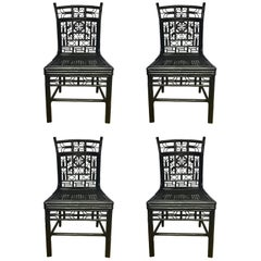 Michael Taylor For Baker Style Asian Chippendale Fretwork