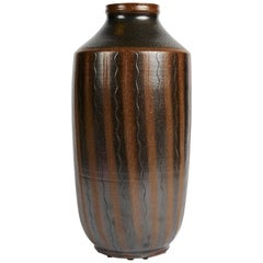 Arthur Andersson, Large Mid-century Vase, Sweden, C. 1950s