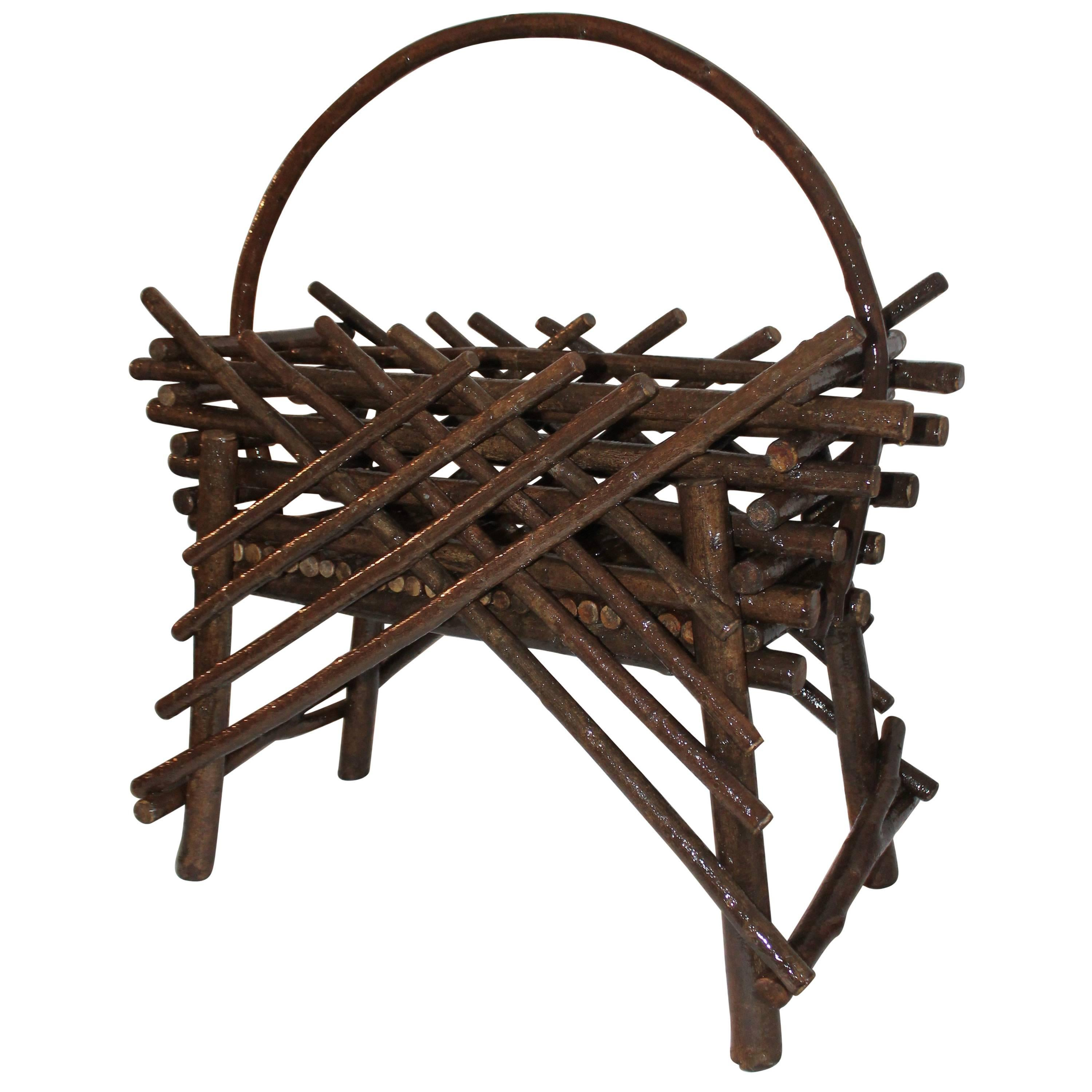 Amish Handmade Willow Planter