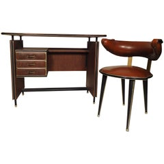 Vintage Modern Italian Desk and Chair
