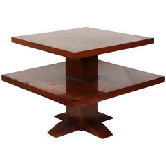 Jules Leleu French Art Deco Square Coffee Table