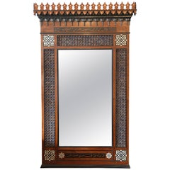Superb Moroccan Carved Mother-of-Pearl Inlaid Mirror