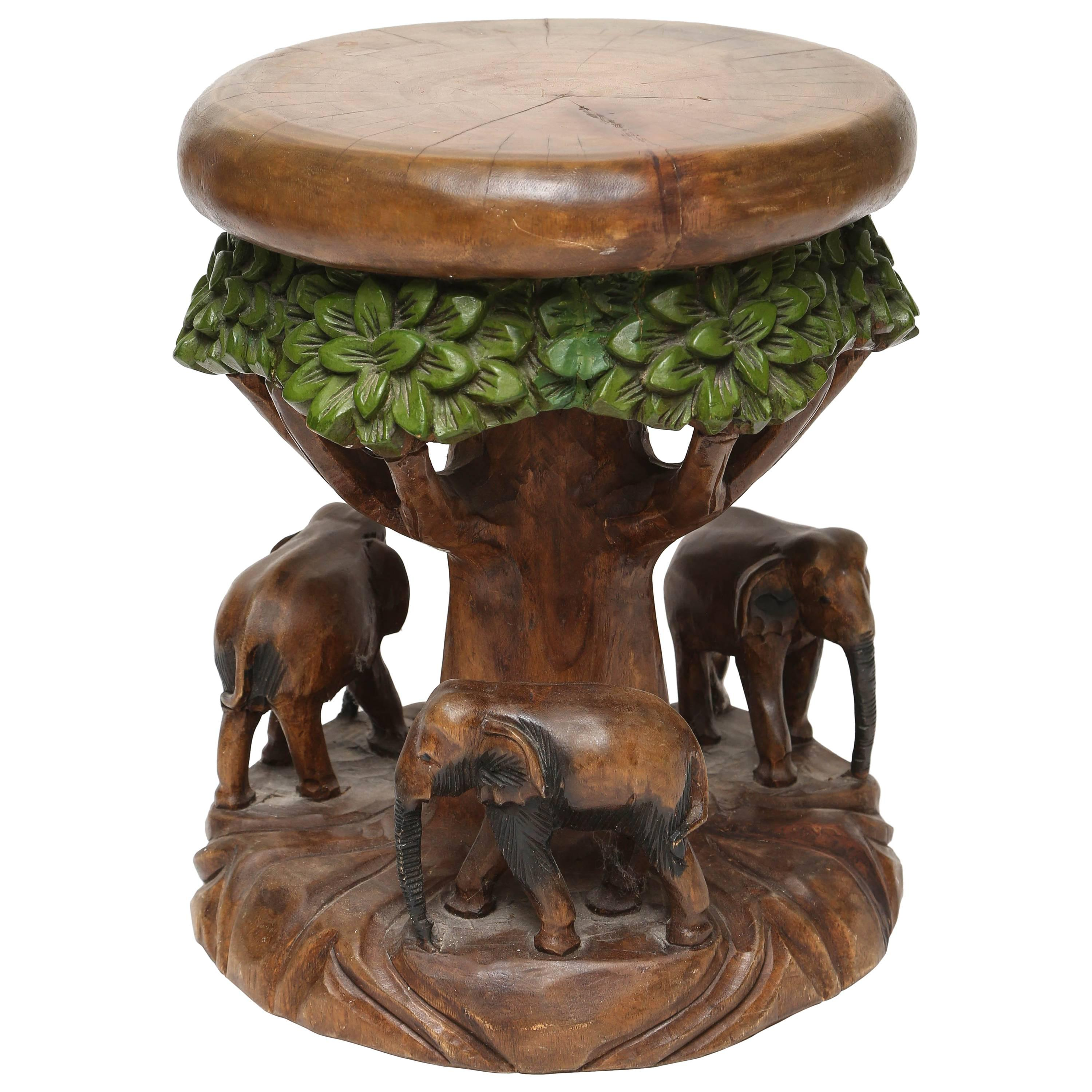 Blue and White Ceramic Elephant Garden Stool Good Luck Trunk Up For ...