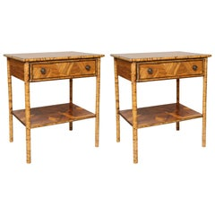 Pair of Antique Bamboo Side Table