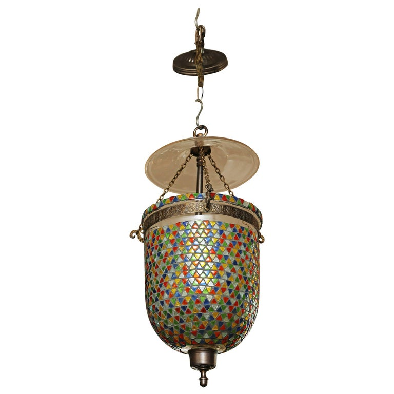"Moroccan ""Mosaic"" Bell Jar Pendant Light"