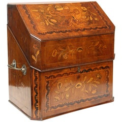 Large Dutch Marquetry Letter Box