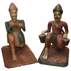 Pair of Rare Life-Size Anglo-Indian Figures