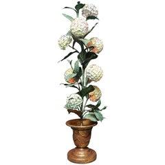 Superbly Whimsical Midcentury Hydrangea Floor Lamp