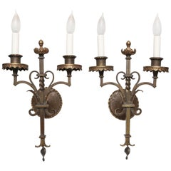 Pair of Mizner Era Sconces