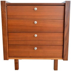 Martin Borenstein for Brown Saltman Petite Modular Walnut Dresser, circa 1960