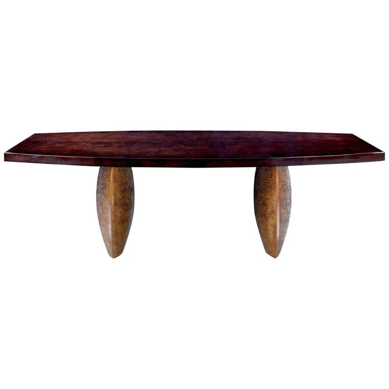 Dining Room Table Dogwood France Modern Contemporary Bronze Legs