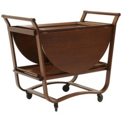 Serving or Bar Cart by Edward Wormley for Dunbar, Drop-Leaf with Removable Trays