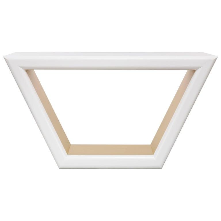 Jolie Console Table White Lacquer