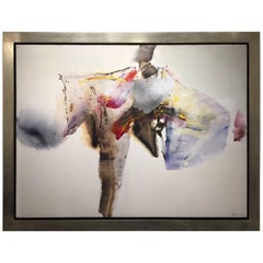 Chuang Che Modern Art Oil on Canvas Blue Brown Red Yellow Contemporary