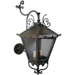Decorative Iron Exterior Wall Lantern