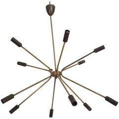 Midcentury Italian Modern Sputnik Chandelier