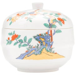 Contemporary Japanese Kakiemon Porcelain Covered Bowl