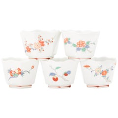 Japanese Kakiemon Porcelain Set of Five Dishes