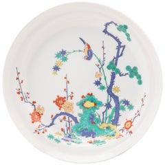 Japanese Arita Porcelain Plate in Kakiemon Style, circa 1960