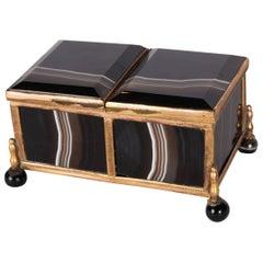 Antique German Ormolu-Mounted Agate Box