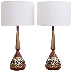 Pair of Large Tony Paul Table Lamps for Westwood Lightning
