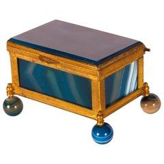 Antique German Decorative Ormolu Mounted Agate Box
