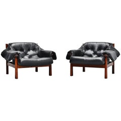 Pair of Percival Lafer Lounge Chairs, Brazil, 1960