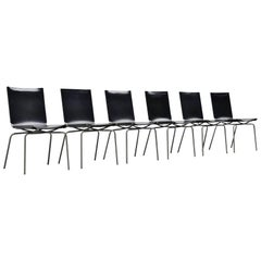 Fabiaan Van Severen Crossed Leg Dining Chairs, Belgium, 1998