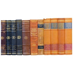 Early 20th Century Leather Bound Library Books Series 41