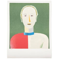 "Malevich ""Portrait of a Female"" Lithography"