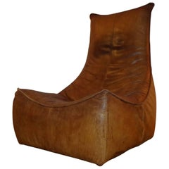 Lounge Club Chair from 1970 in Cognac Leather by Gerard Van Den Berg for Montis