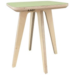 Hoscha Stool, hand veneered plywood stool, designed and made by Lee Matthews