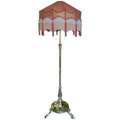 Victorian Brass Extending Standard Oil Lamp